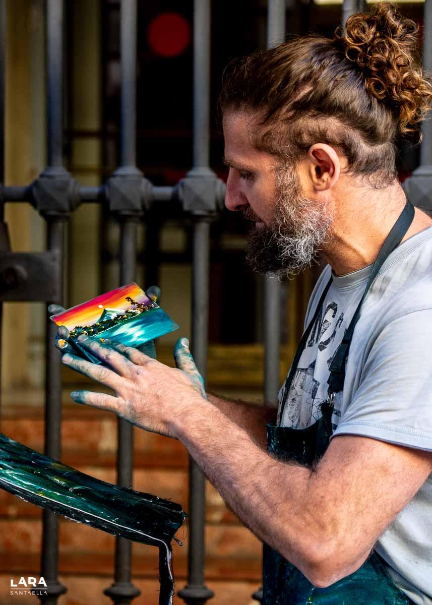 Leo Toledo, pintor callejero